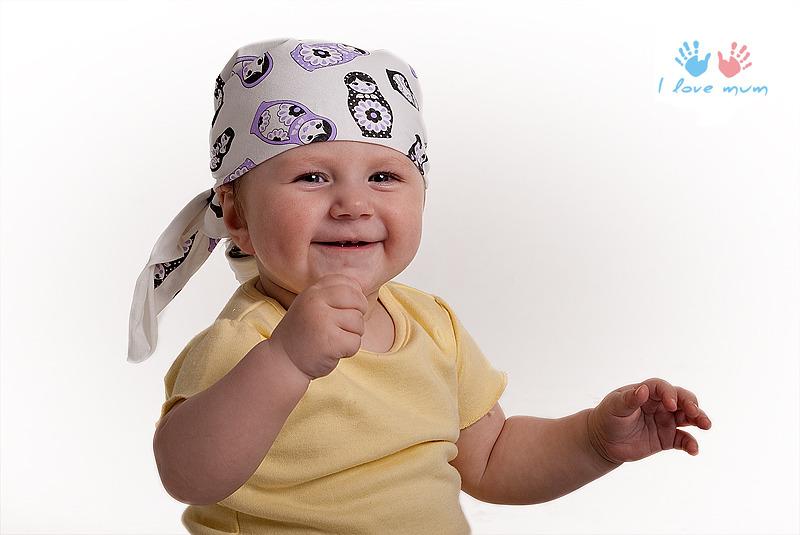 Бандана на голову для ребенка